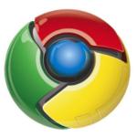 Knappliknande runt märke med 3d-effekt. I mitten en blå boll. Den är omgiven av tre bitar i grönt, gult och rött.