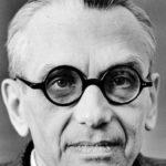 Kurt Gödels ansikte.