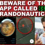 Ruta från en YouTube-film med texten Beware of the app called Randonautica.
